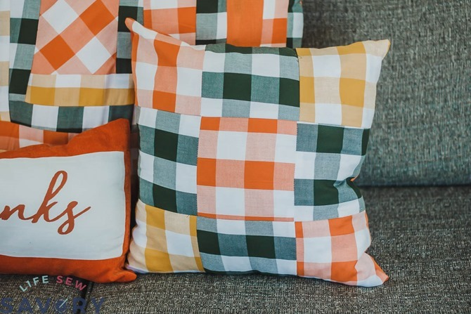 101 Fall Sewing Tutorials - EverythingEtsy.com - Nine Patch Fall Pillow Tutorial