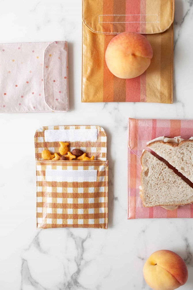 101 Fall Sewing Tutorials - EverythingEtsy.com - Reusable Sandwich Bag DIY