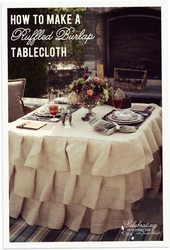 101 Fall Sewing Tutorials - EverythingEtsy.com - Ruffled Tablecloth Tutorial