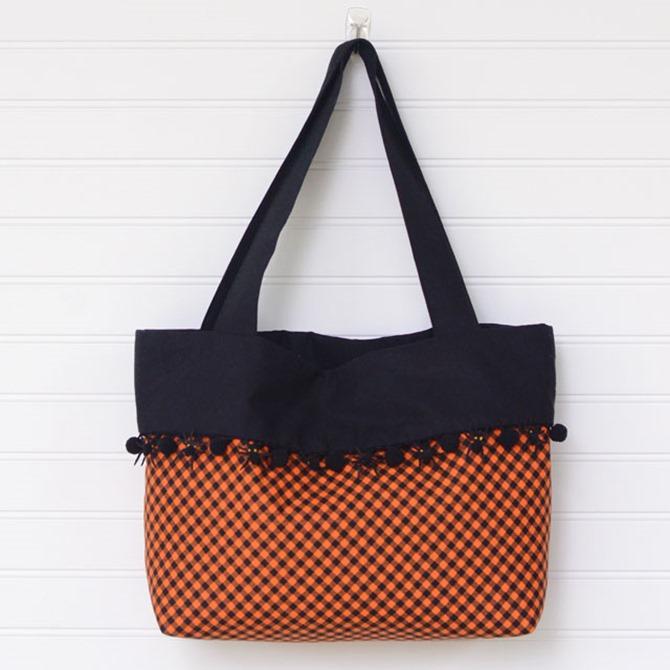 101 Fall Sewing Tutorials - EverythingEtsy.com - Trick-or-Treat Bag DIY