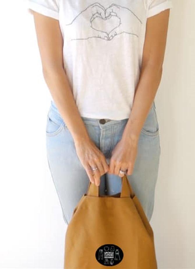 101 Fall Sewing Tutorials - EverythingEtsy.com - Upcycled DIY Tote Bag