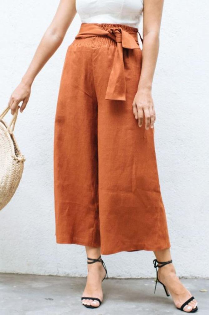 101 Fall Sewing Tutorials - EverythingEtsy.com - Wide Leg Fall Pants Tutorial