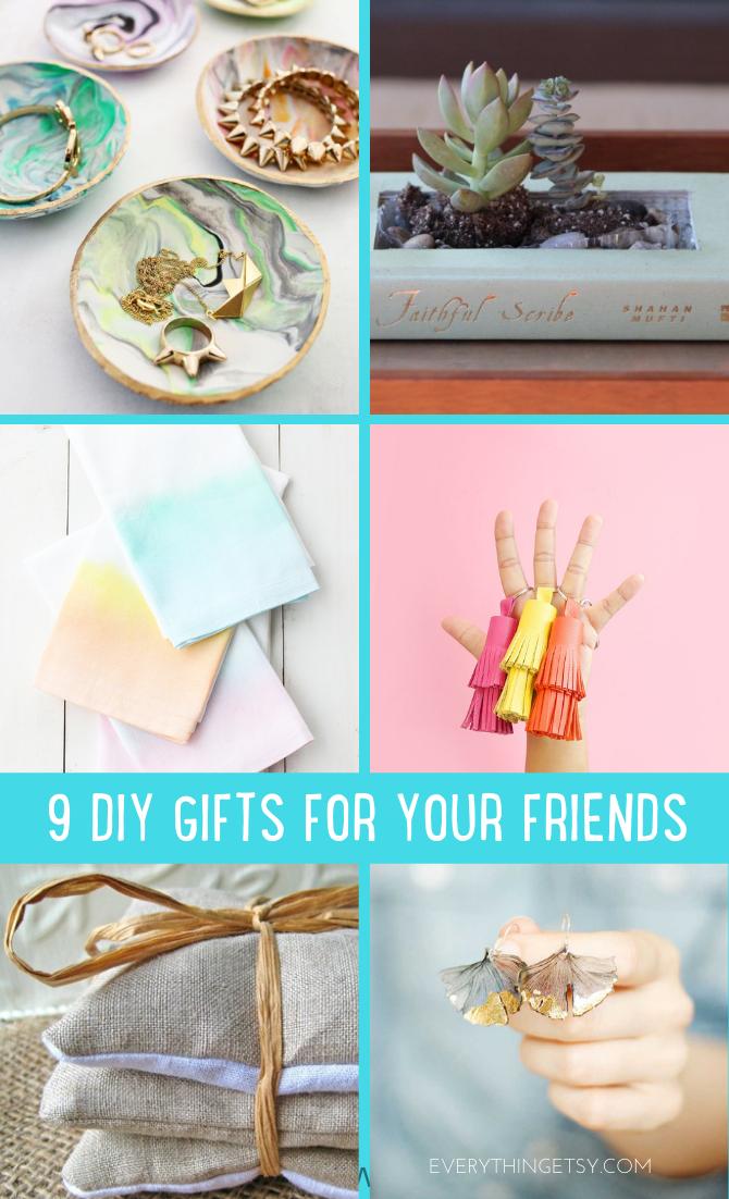 DIY Gift Ideas for friends - Holiday Handmade Tutorials - EverythingEtsy.com