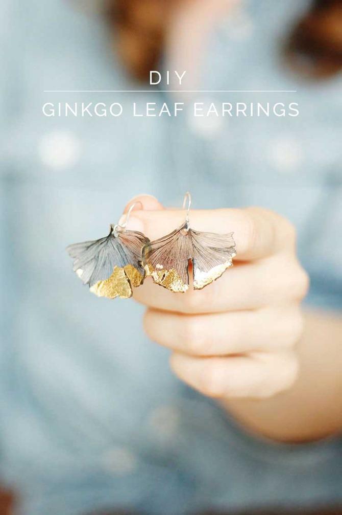 DIY Gift - Ginkgo Leaf Earrings - Well Nesting