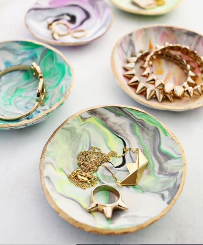 DIY Gift Idea - Marbled Trinket Dish - A Beautiful Mess