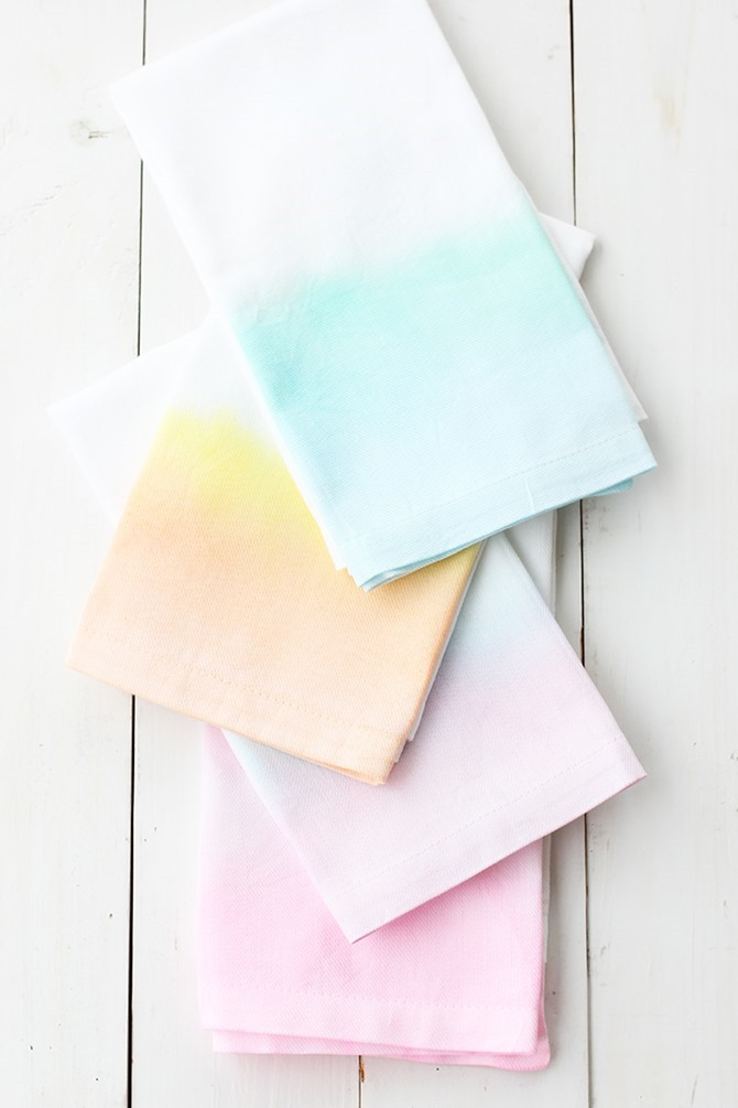 DIY Gift - Watercolor Cloth Napkins - Alice and Lois