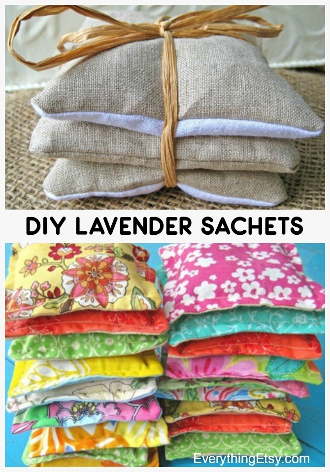 DIY Lavender Sachets - Great Handmade Gifts or Wedding Favors - EverythingEtsy.com - Full Tutorial!