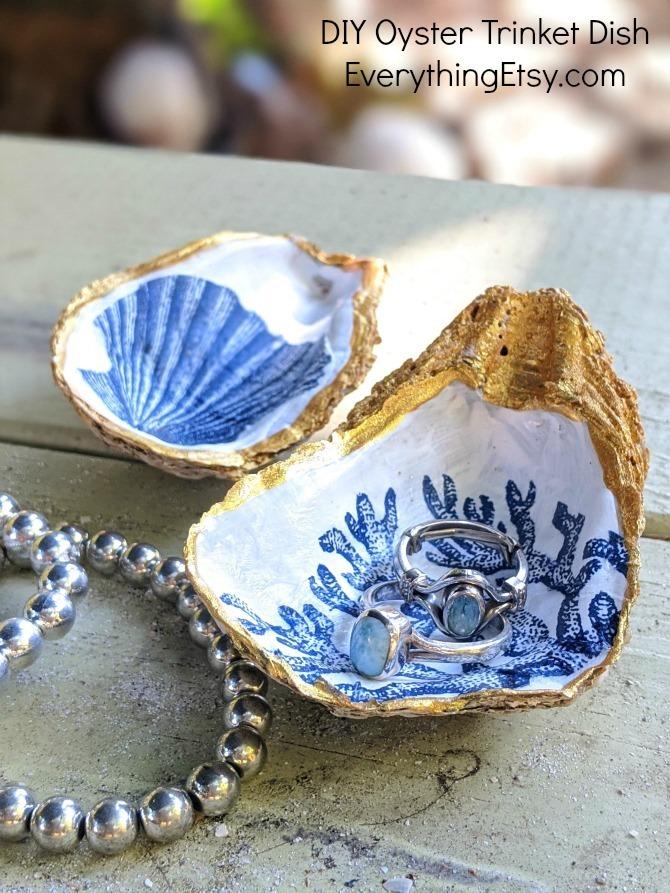 EverythingEtsy.com - DIY Oyster Trinket Dish