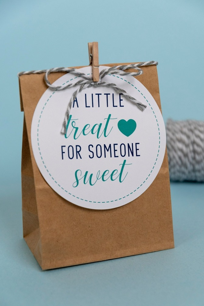 Free Printable Handmade Gift Tags - EverythingEtsy.com - A little treat for someone sweet