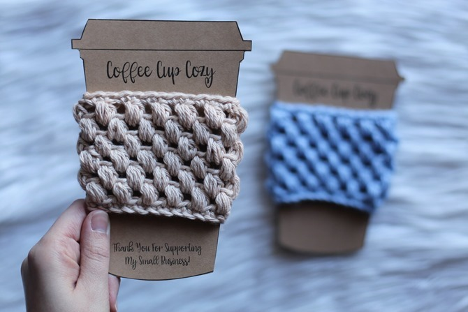 Free Printable Handmade Gift Tags - EverythingEtsy.com - Coffee Cup Cozy