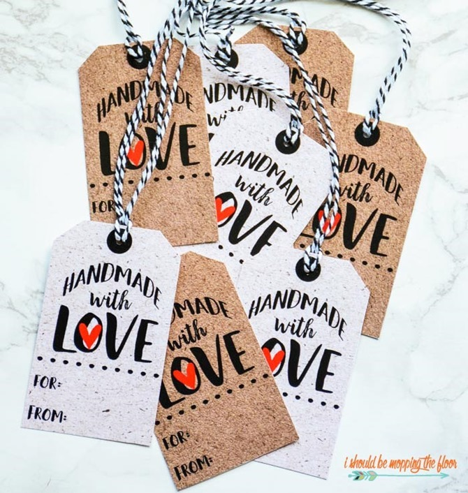 Free Printable Handmade Gift Tags - EverythingEtsy.com - Handmade tags