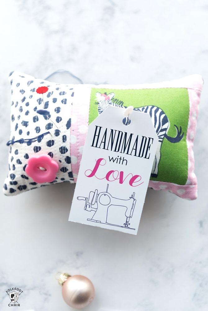 Free Printable Handmade Gift Tags - EverythingEtsy.com - Sewing Gift Printable Tag
