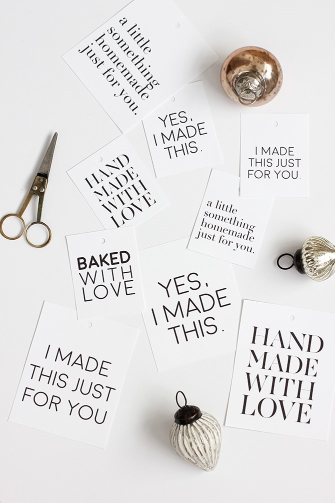 Handmade Gift Tag Printables - EverythingEtsy.com - Simple and sweet design on this free printable!