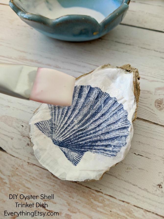 Oyster Shell Trinket Dish Tutorial - EverythingEtsy.com