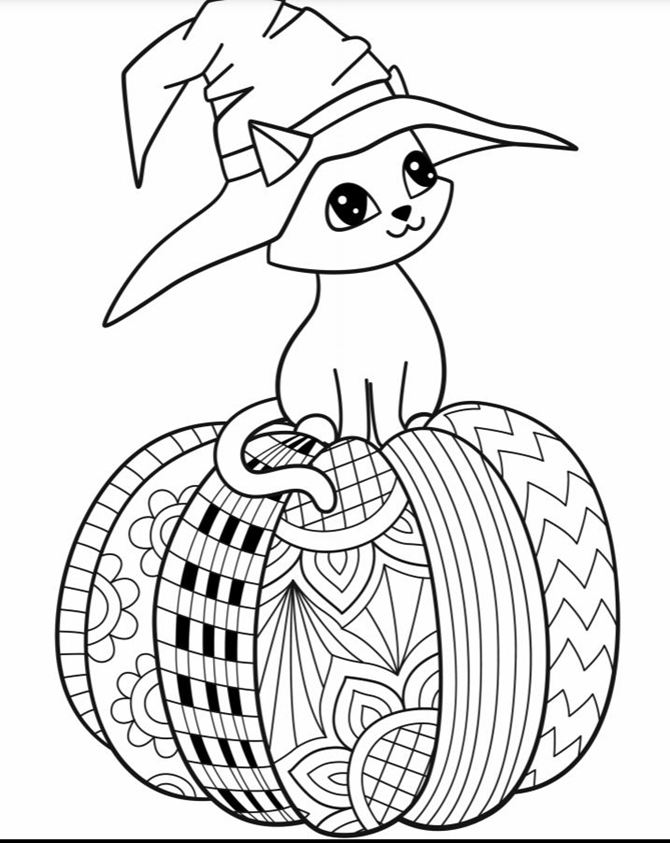- 8 Halloween Coloring Pages For Adults And Kids {Free Printables} -  EverythingEtsy.com