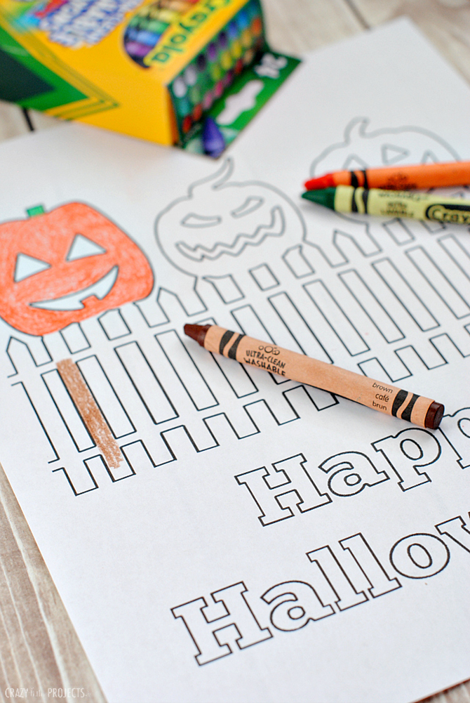 7 Free Halloween Colring Pages for Adults and Children - Happy Halloween from Crazy Little Projects - EverythingEtsy