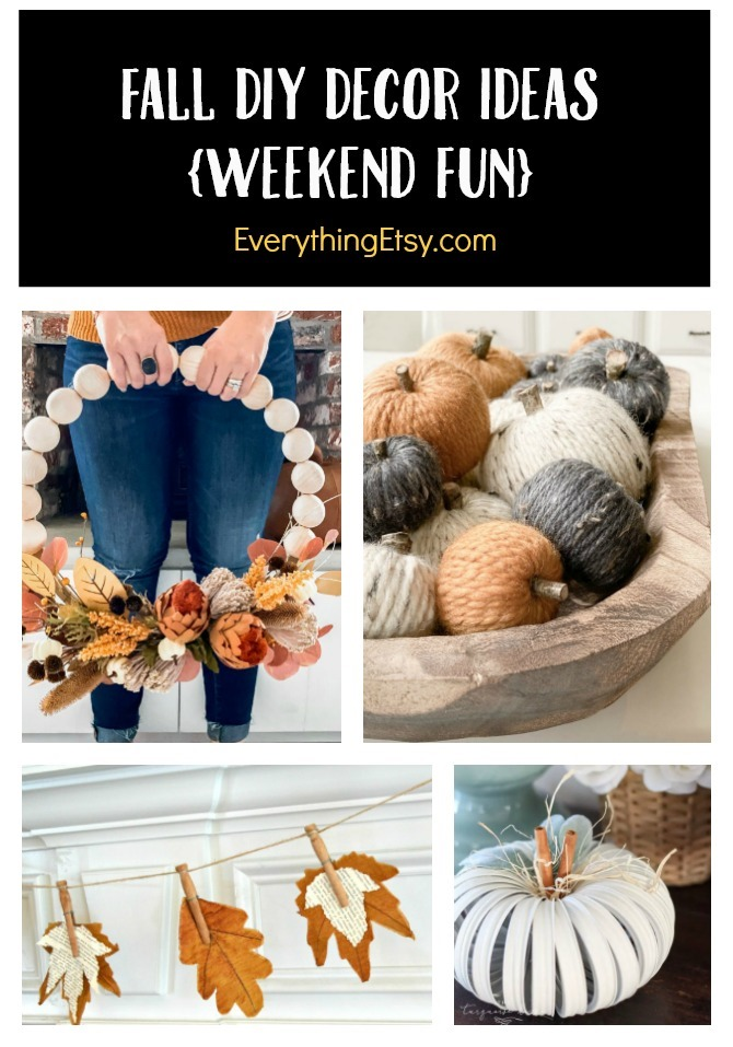 Fall DIY Decor Ideas - Weekend Tutorials You'll Love on EverythingEtsy.com