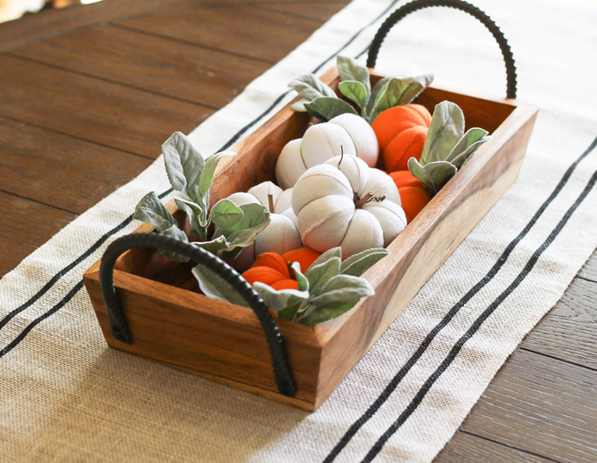 Fall Favorites Home Decor on Etsy - Fabric Pumpkins - EverythingEtsy