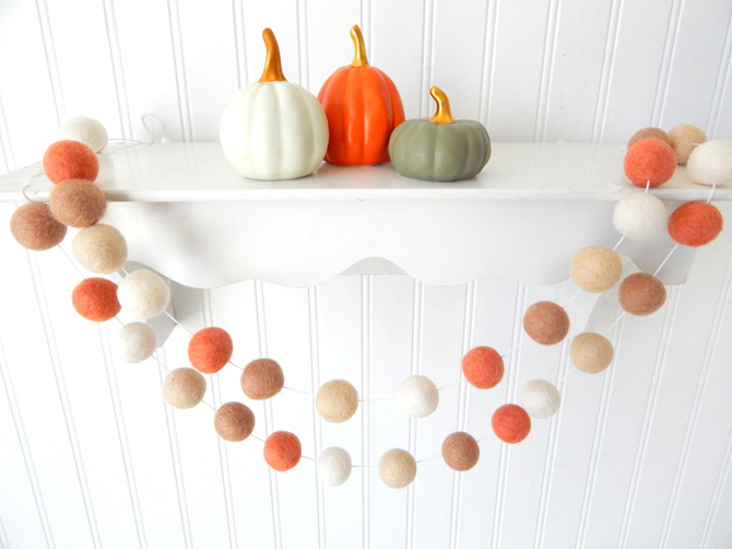 Fall Favorites Home Decor on Etsy - Fall Garland - EverythingEtsy