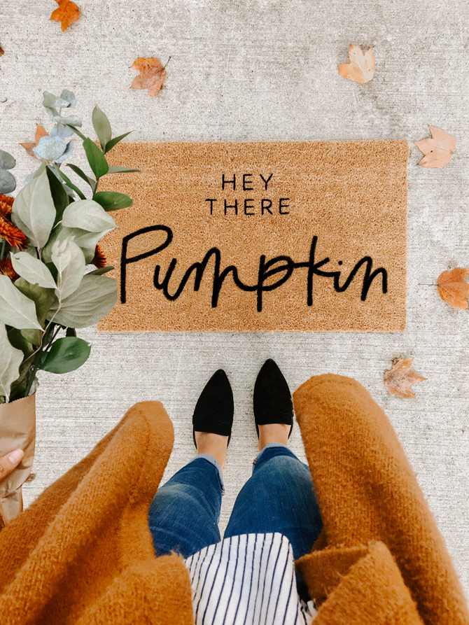 Fall Favorites Home Decor on Etsy - Hey There Pumpkin - EverthingEtsy