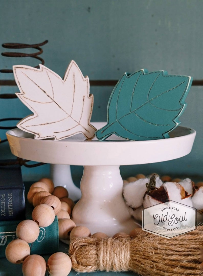 Fall Favorites Home Decor on Etsy - Wooden Fall Leaves - EverythingEtsy