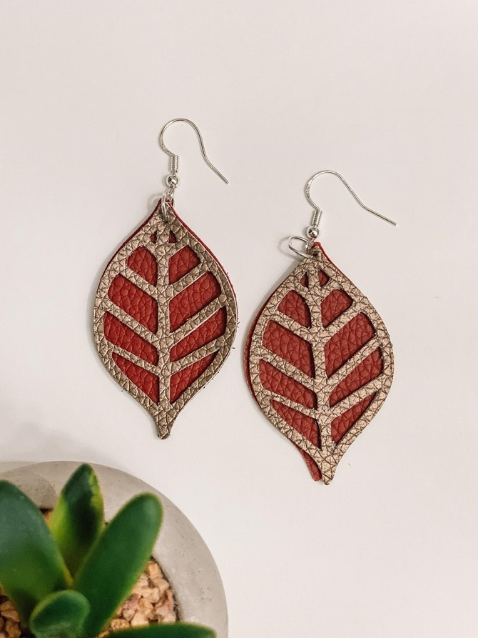 Fall Leaf Earrings - Etsy