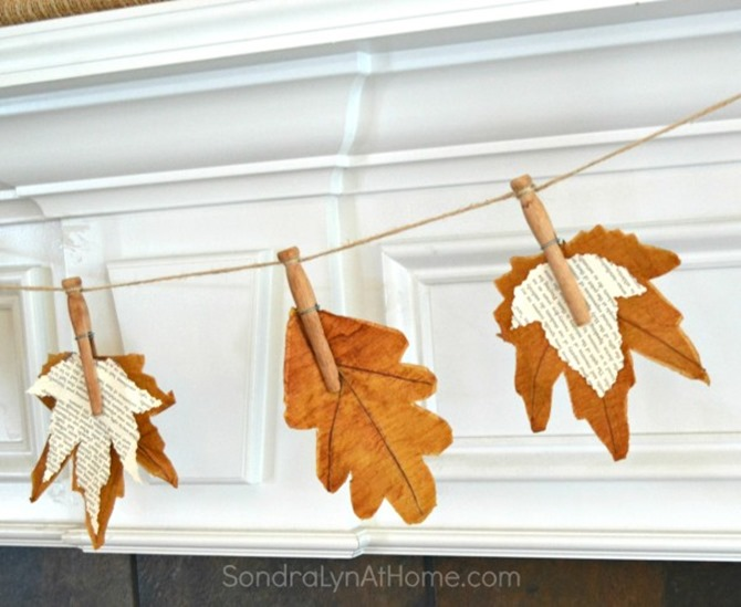 Fall Leaves Banner = Sondralyn at Home