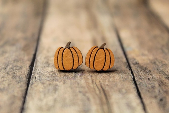 Pumpkin Earrings - Etsy