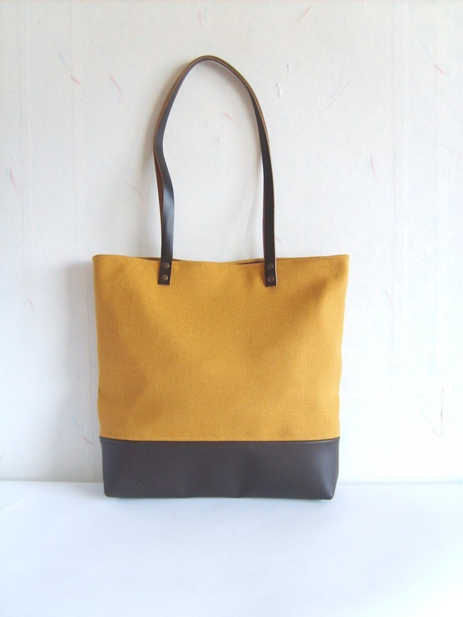 fall leather tote - Etsy