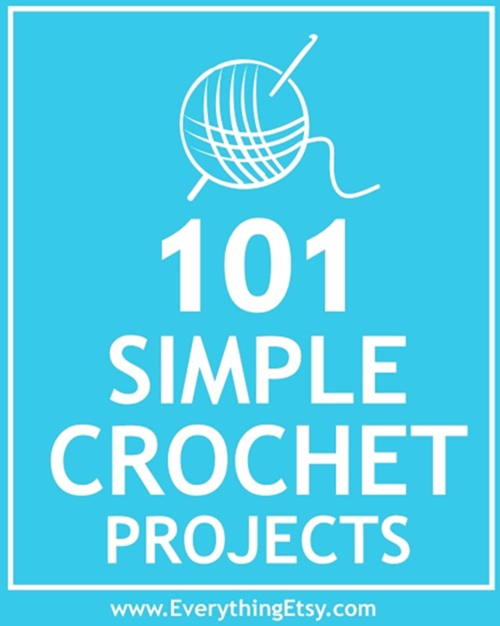 101 Free Crochet Patterns - Easy Projects - EverythingEtsy