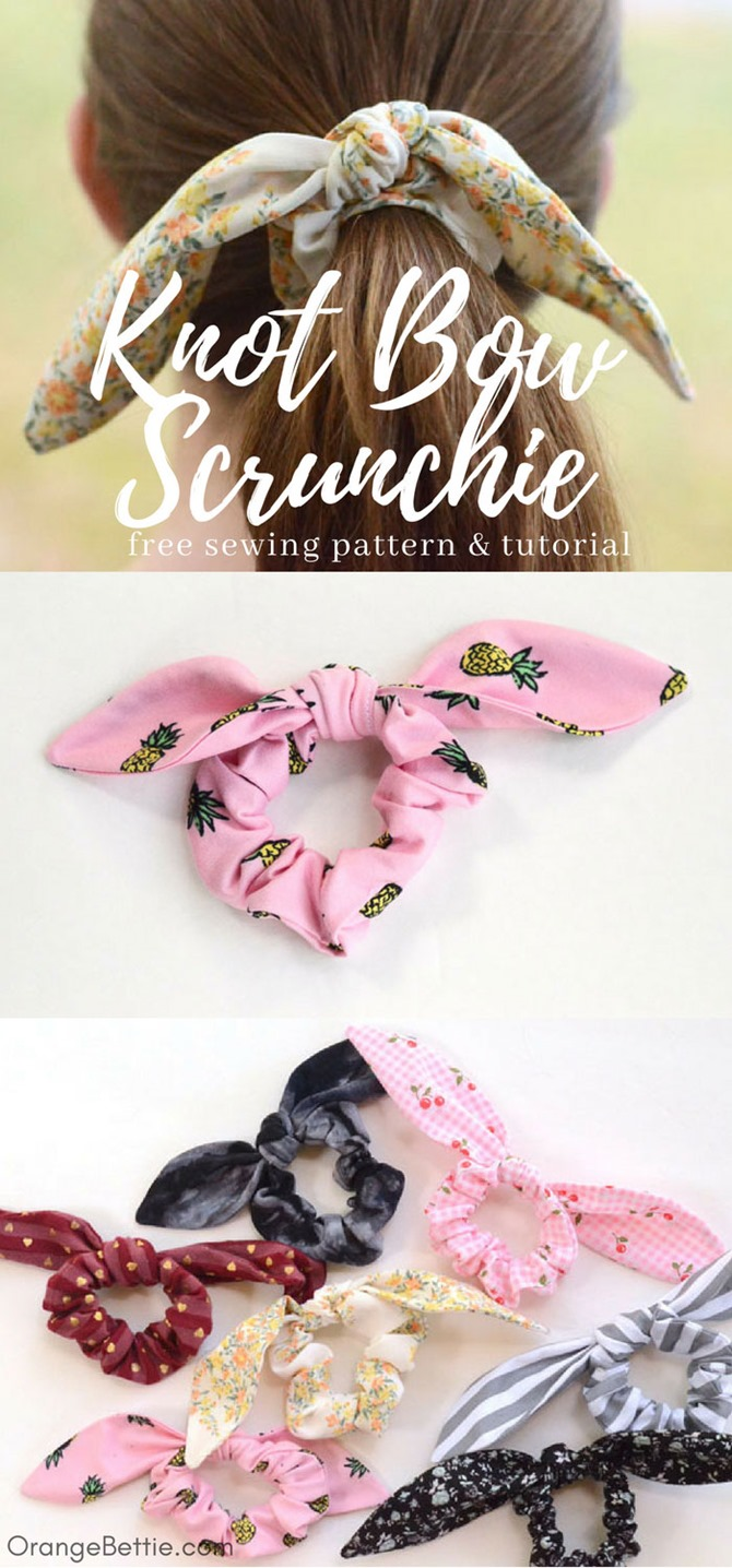 12 Easy Summer Sewing Projects - Tutorials You'll Love on EverythingEtsy.com - Hair Scrunchie Pattern
