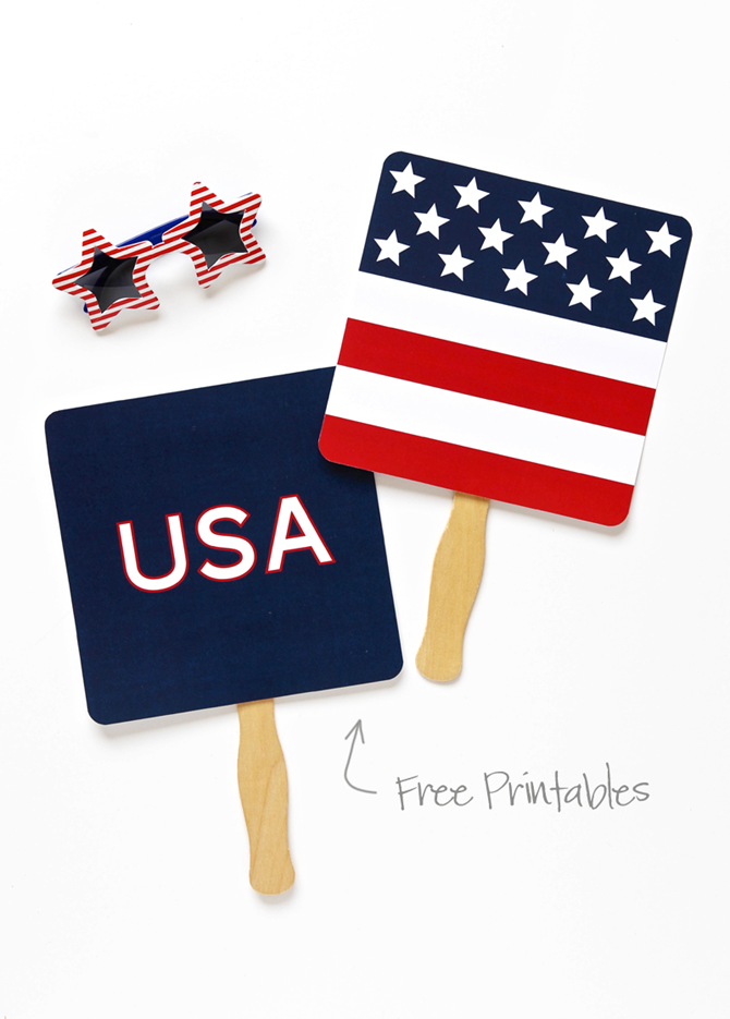 4th of July Part Printables - 12 Free Downloads - EverythingEtsy.com - Party Fans