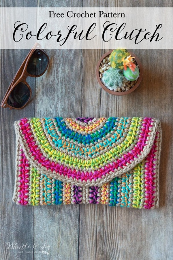 7 Free Summer Crochet Patterns - EverythingEtsy.com - Colorful Clutch