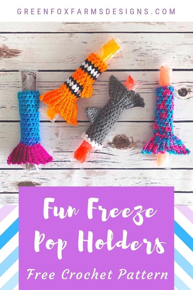 7 Free Summer Crochet Patterns - EverythingEtsy.com - Freezer Pop Holders