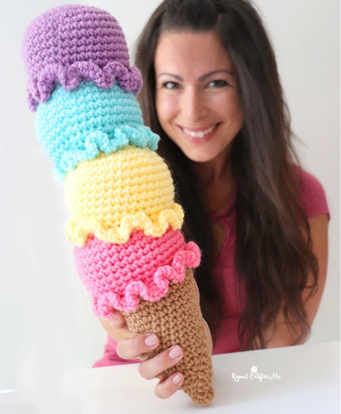 7 Free Summer Crochet Patterns - EverythingEtsy.com - Ice Cream Cone