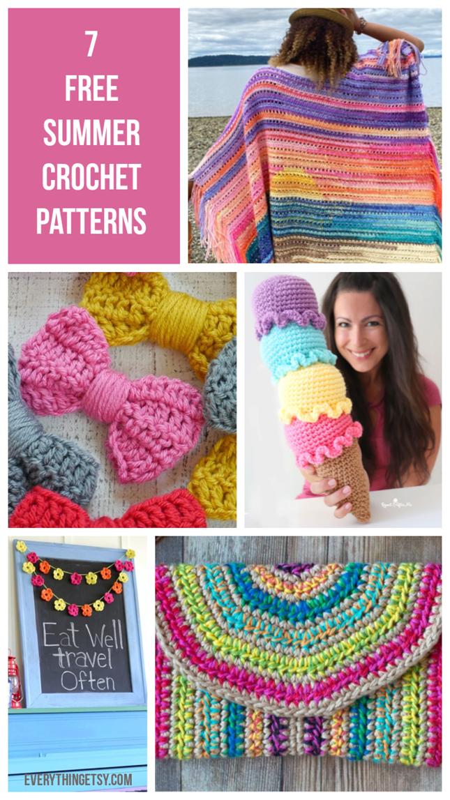 7 Free Summer Crochet Patterns - EverythingEtsy.com