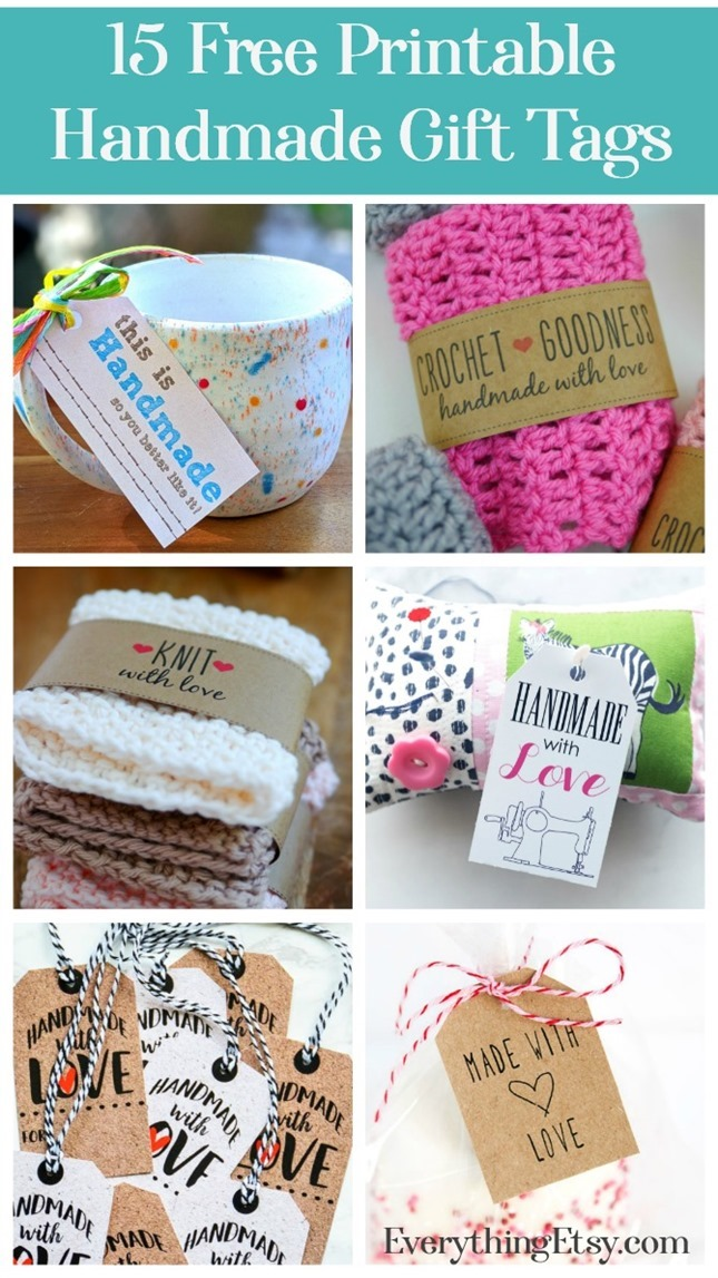 Free Handmade Gift Tags for Your Projects - EverythingEtsy