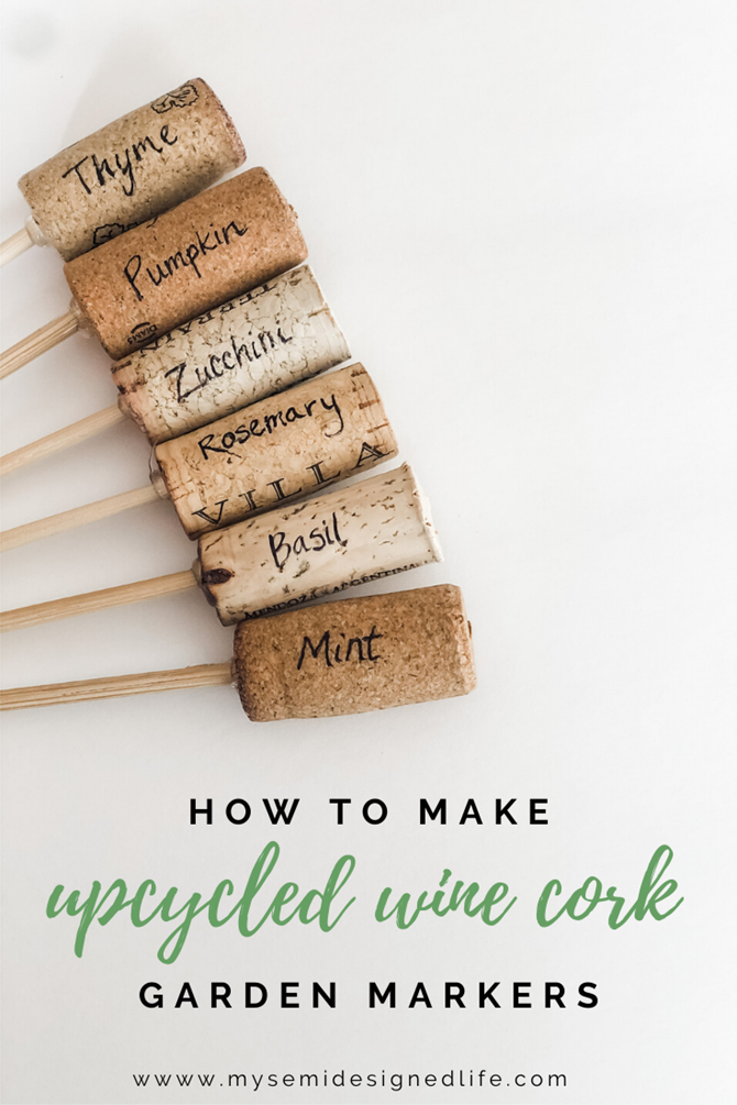 15 DIY Gifts for Plant Lovers - EverythingEtsy.com - Wine Cork Markers