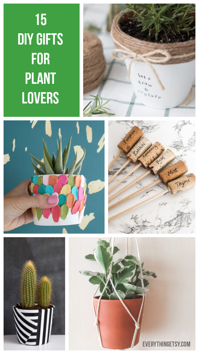 15 DIY Gifts for Plant Lovers - EverythingEtsy.com