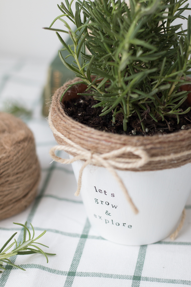 15 DIY Gifts for Plant Lovers - Stamped Flower Pot - EverythingEtsy