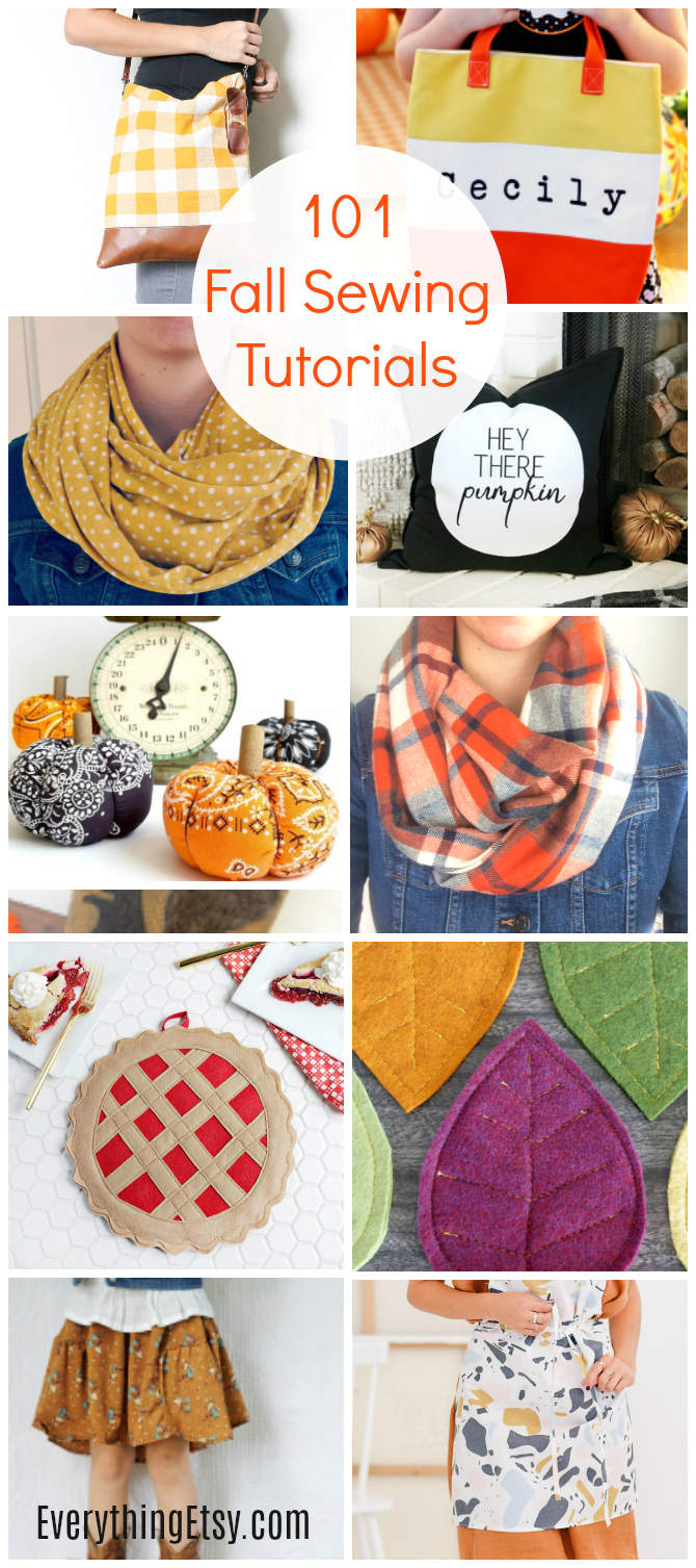 101 Fall Sewing Tutorials You'll Love - Easy Patterns - EverythingEtsy