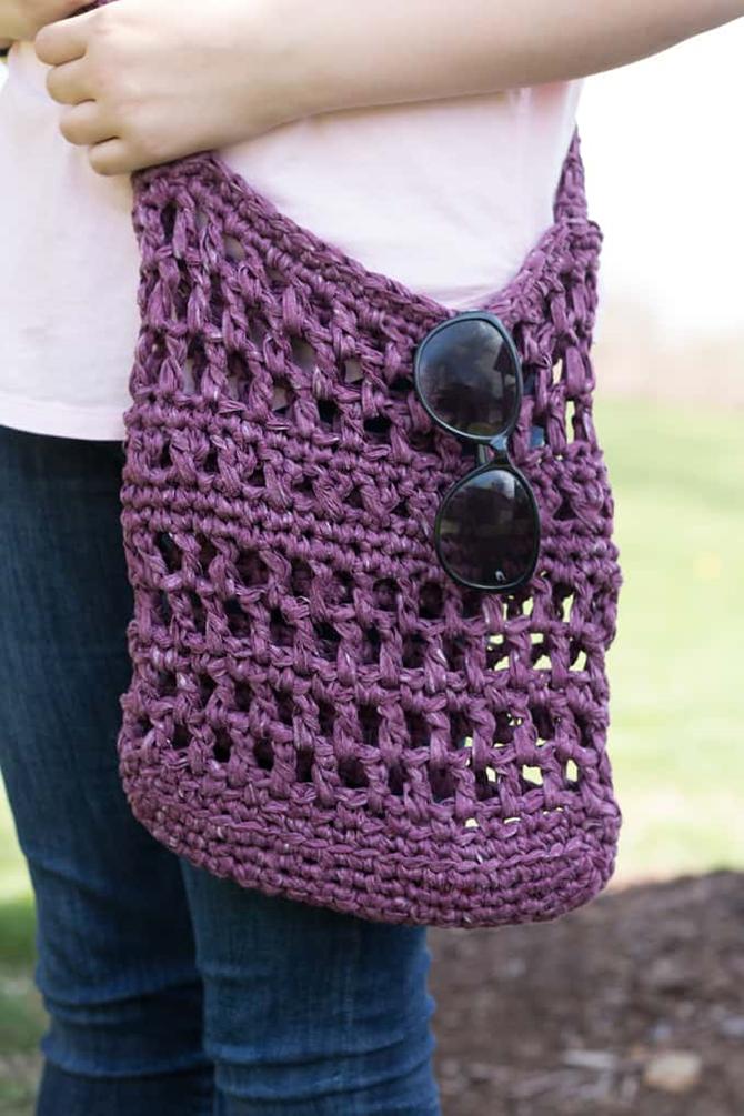 5 DIY Market Totes - Farmer's Market Weekend - Crochet Pattern - EverythingEtsy