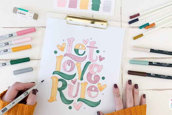 7 Free Printable Coloring Pages for Adults and Children - Let Love Rule - EverythingEtsy