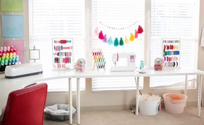 Colorful craft room - sweet red poppy