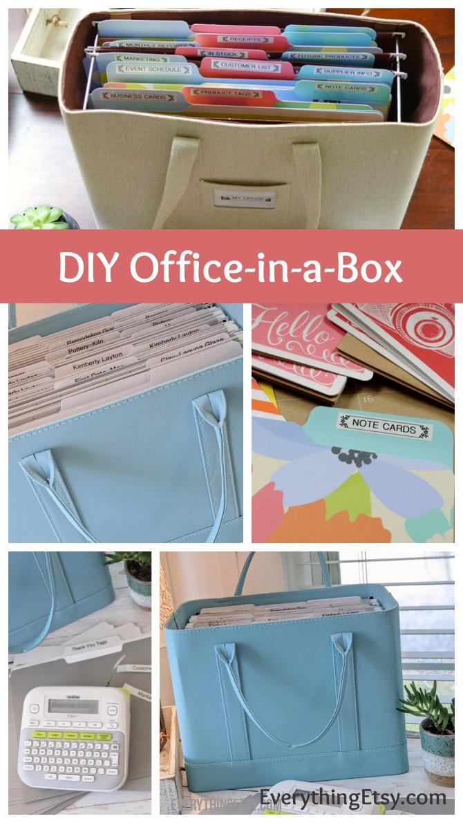 Creating an Office-in-a-Box - Get Organized - Etsy Business Goodness on EverythingEtsy.com