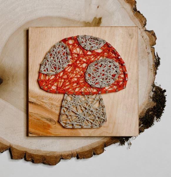 DIY Mushroom String Art Kit - EverythingEtsy