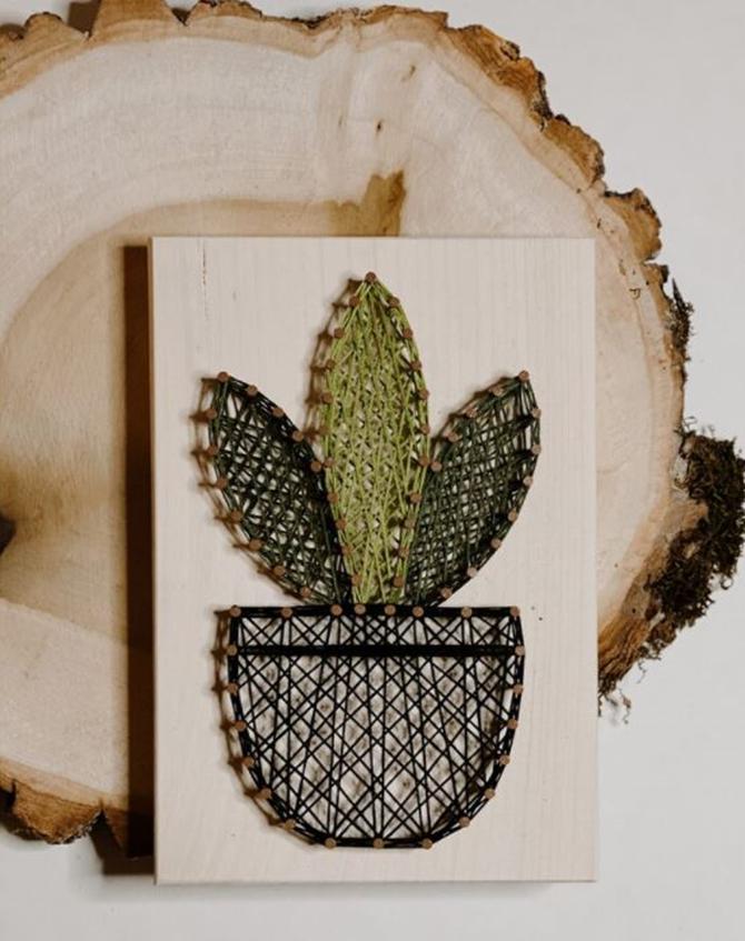 DIY Plant String Art Template on EverythingEtsy