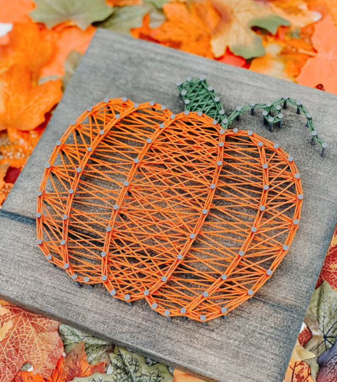 DIY Pumpkin String Art Template - Fall Project Goodness! EverythingEtsy