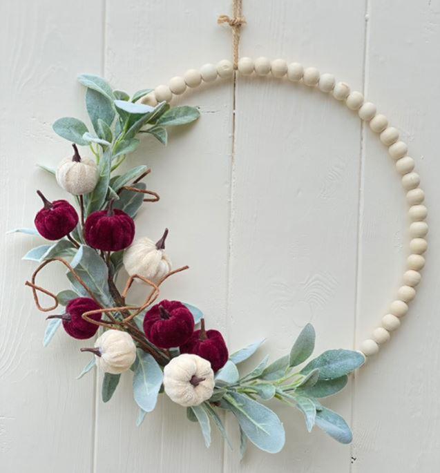 Fall Wood Bead Wreath on Etsy - EverythingEtsy