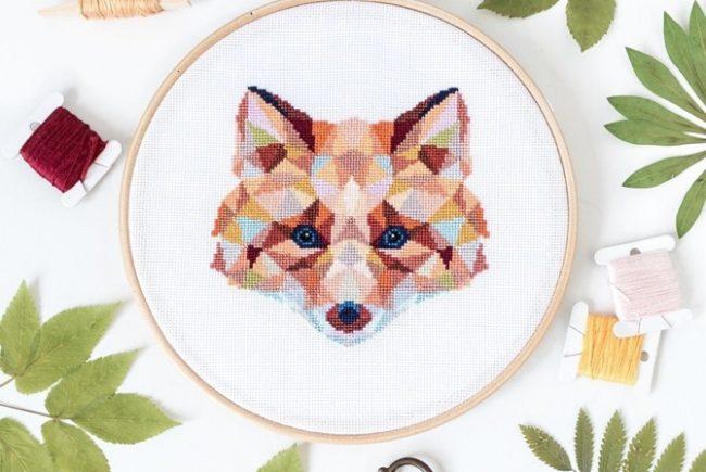 Fall Fox Cross Stitch Pattern